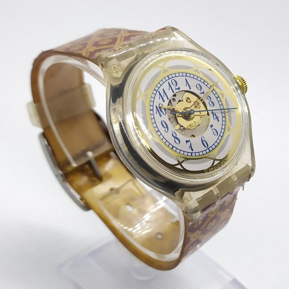 Swatch Watch Automatic UZOR Gold Swatch SAK122 AG