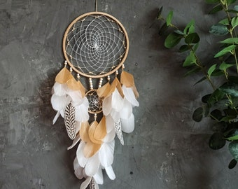White dream catcher, Wedding gift for couple, Christmas gift for wife