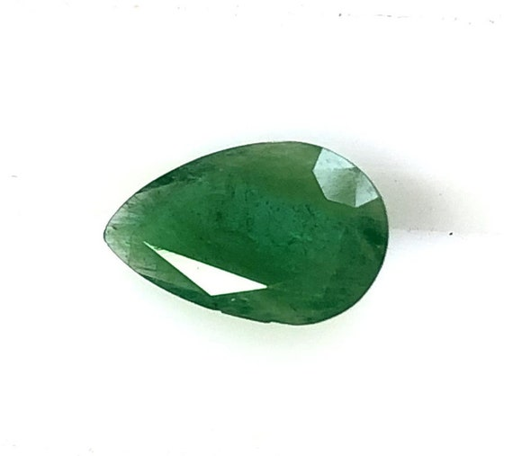 Emerald Faceted Cut Loose Gemstone 15x12x7 MM Size AAA Quality Natural Emerald Pear Shape Faceted Cut C4031