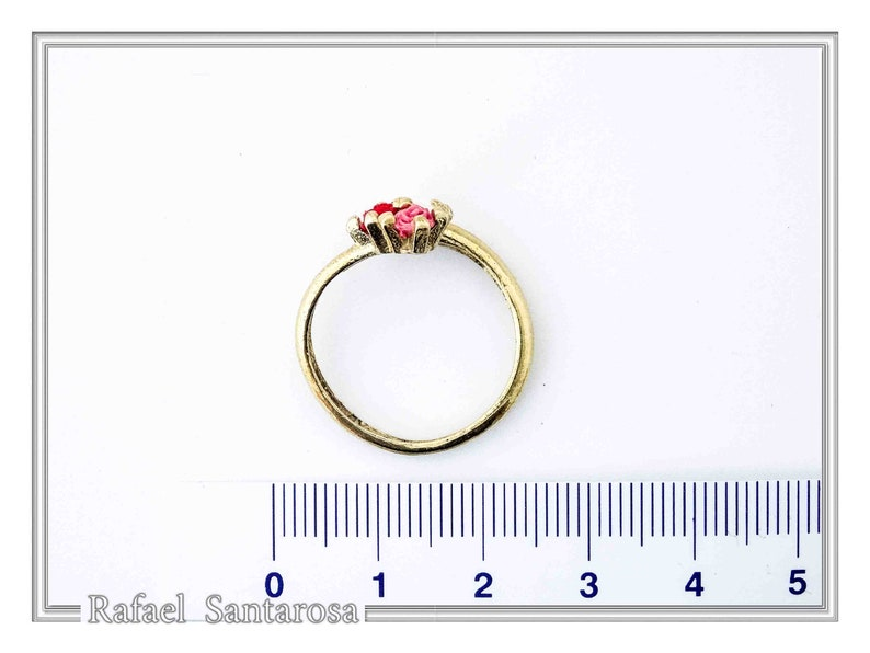 roses ring sterling silver gold-filled