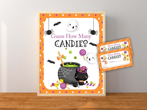 Halloween Guess How Many Candies Halloween Printable Guess
