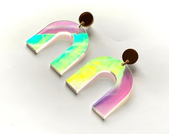 Iridescent Arch Earrings