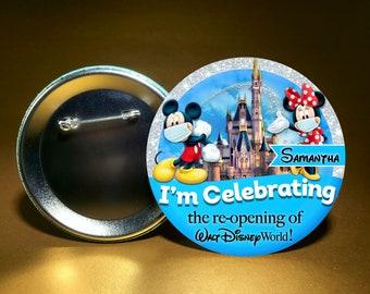 Disney Themed Wedding Buttons Disney Inspired Wedding Buttons Mickey and Minnie Disney Wedding Buttons