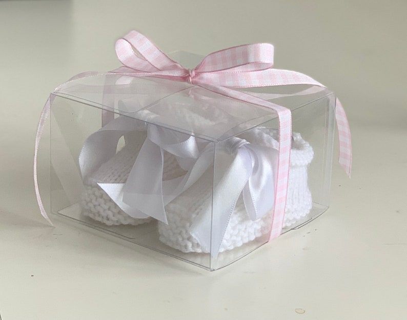 Booties with Bow Gift Boxed
