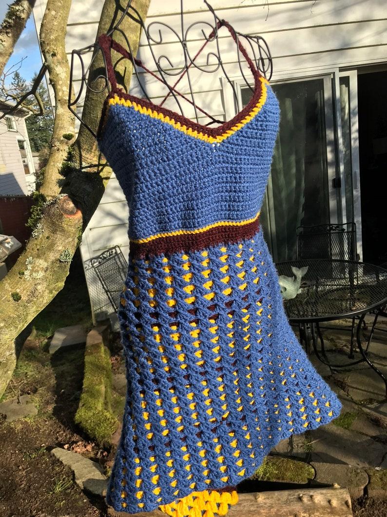 Reversible crochet vintage style sundress