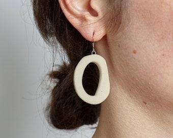 Earrings No. 001 in ceramic