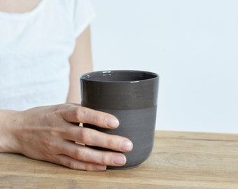 Large mug for every day in anthracite