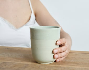 Large mug for every day in mint green