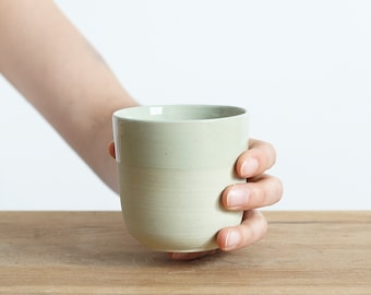 Small mug for every day in mint green