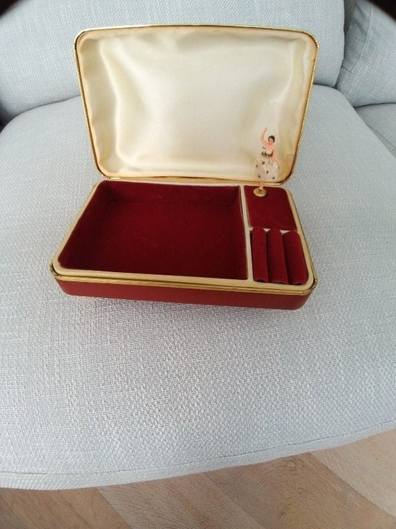 Vintage Ballerina Jewellery Music Box