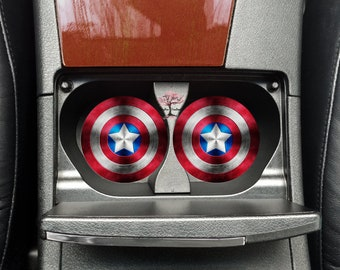 Captain America Neoprene Car Coasters Set of Two | Drink Coasters