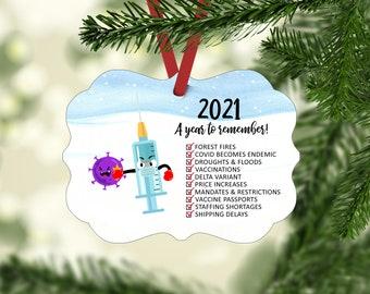 2021 Year To Remember Ornament | Quarantine Ornament|  2021 Christmas Ornament| Year to Remember