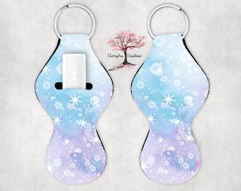 Marble Stars ChapStick Holder Lip Balm Holder Key Ring Lighter Holder Lip Chap Holder