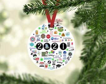 2021 Christmas Ornament | 2021 Christmas Decoration| Quarantine | Pandemic | Coronavirus | COVID |