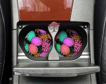 Pineapple Neoprene Car Coasters Set of Two | Drink Coasters