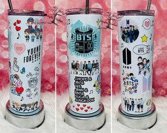 BTS 20 oz Insulated Tumbler Hot Cold Drinks  BTS  KPOP Tumbler