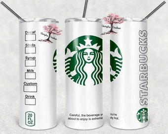 Starbucks 20 oz Insulated Tumbler Hot Cold Drinks  Starbucks style tumbler  Coffee Tumbler