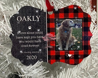 Personalized Pet Memorial Ornament   Memorial  Dog Cat Kitten Puppy