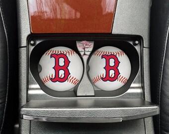 Boston Red Sox Baseball Neoprene Car Coasters Set of Two | Drink Coasters