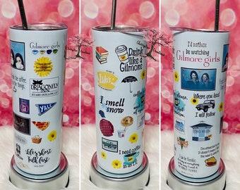 Gilmore Girls 20 oz Insulated Tumbler Hot Cold Drinks| | Christmas Gift| Gilmore Girls Tumbler