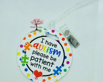 Autism Please Be Patient with Me Baby Tag