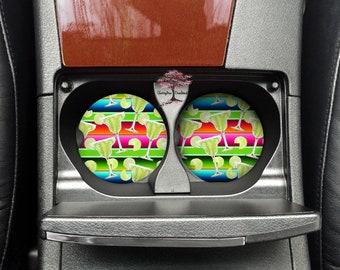 Margaritas Margarita Neoprene Car Coasters Set of Two | Drink Coasters