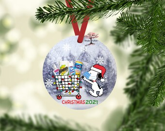 2021 Snoopy Christmas Ornament | 2021 Christmas Decoration| Quarantine | Pandemic | Coronavirus | COVID |