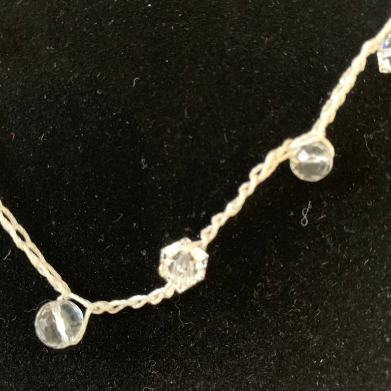 Crystal Crochet  Necklace