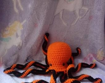 Halloween Crochet Octopus Stuffed Animal Amigurumi Toy