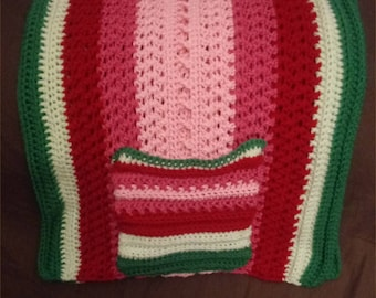 Child Size Crochet Shawl with Pockets