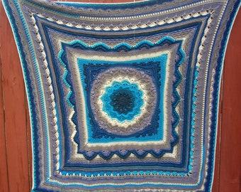 Handmade Heirloom Crochet Blanket Afghan Throw Lapghan