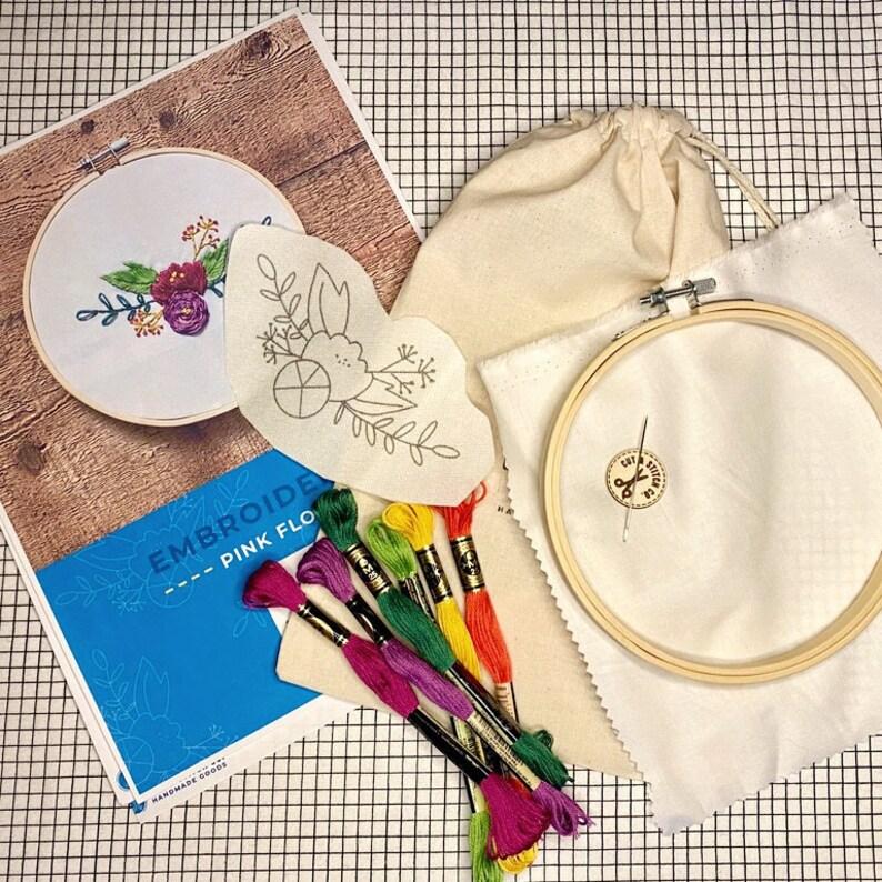 Floral Embroidery Kit Handmade DIY DIY Embroidery Kit DIY Embroidery   Embroidery Kit
