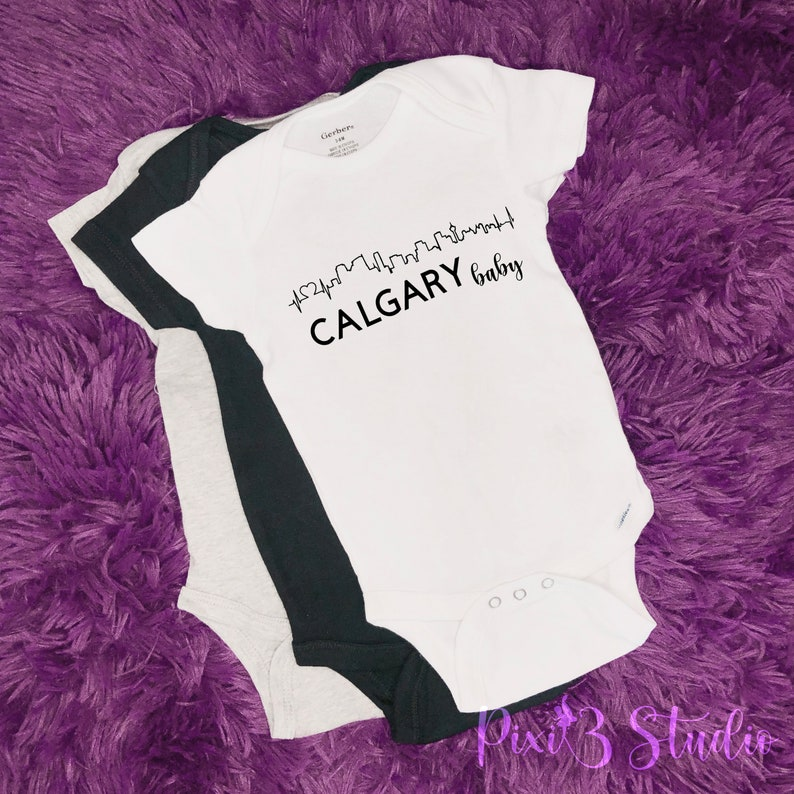 Baby Announcement Pregnancy Announcement and Reveal Baby Bodysuit Calgary Baby Baby Onesies Newborn Onesie Baby Shower Gift Canadian