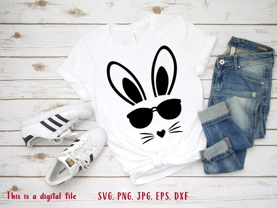Boy easter svg Cool easter svg Easter shirt svg Cool bunny face svg Bunny rabbit svg Bunny svg Peeps svg Easter card svg Easter bunny svg