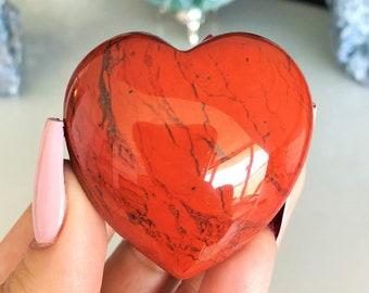 Red Jasper Heart  Cabochon  Pink White Gray Heart