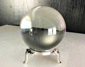 Large Crystal Ball Gazing Sphere with Stand Metaphysical Crystals Altar Decor