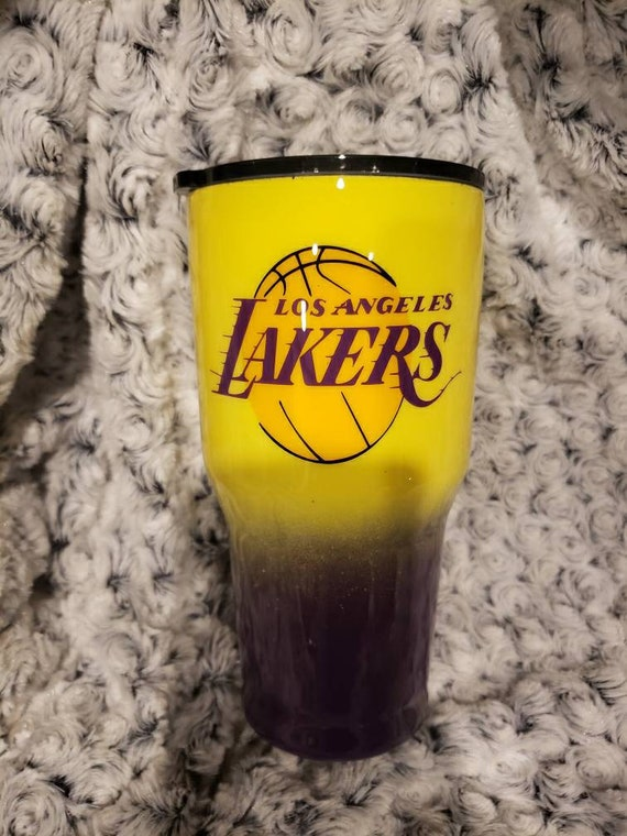 Los Angeles Lakers Epoxy 30 Oz Double Insulated Stainless Etsy