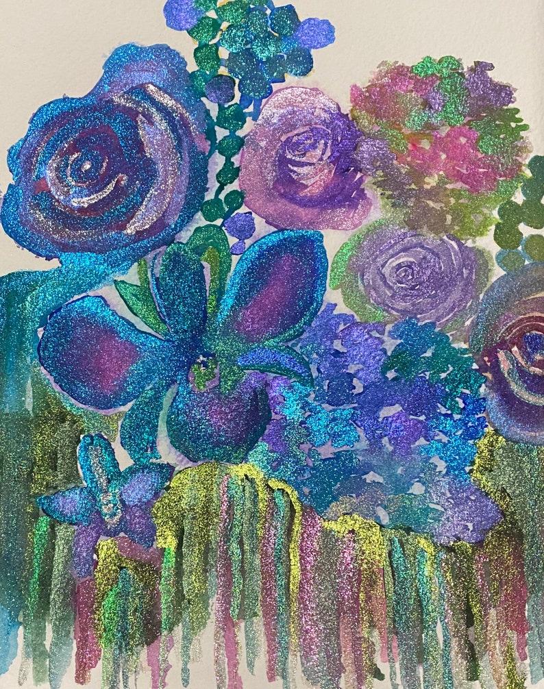 Glitter Florals 2