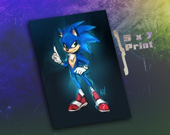 5 x 7 Print - Sonic
