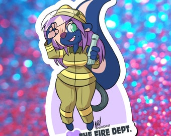 We Love The Fire Department Raelyn Support Sticker