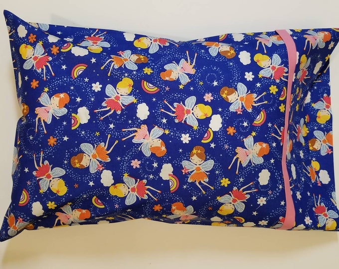 Child Pillow Case / Travel Pillow Case / Fairy Dreams Child Character Pillowcase |  Kids Travel Pillowcase