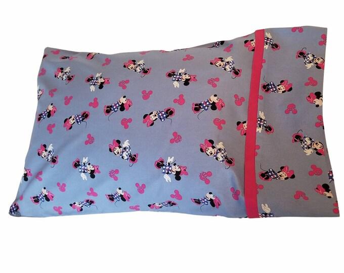 Child Pillowcase / Travel Pillowcase / Disney Minnie Mouse Toddler Pillow Case