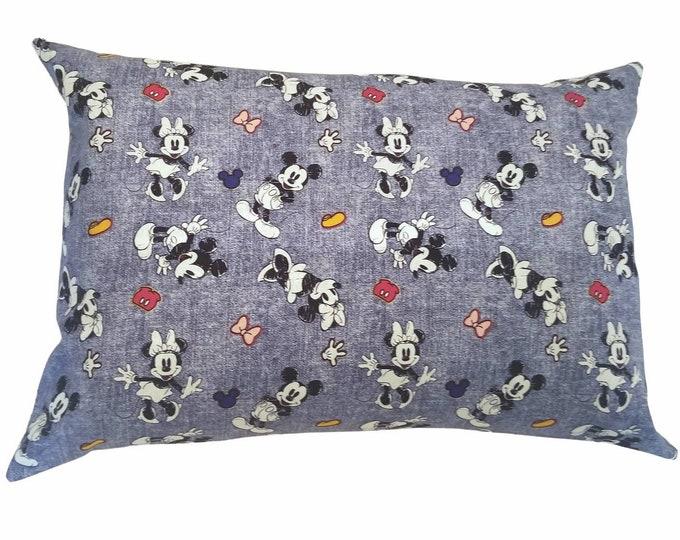 Child Pillowcase / Travel Pillowcase / Disney Mickey & Minnie Pillow Cover / Toddler Envelope Pillow Case
