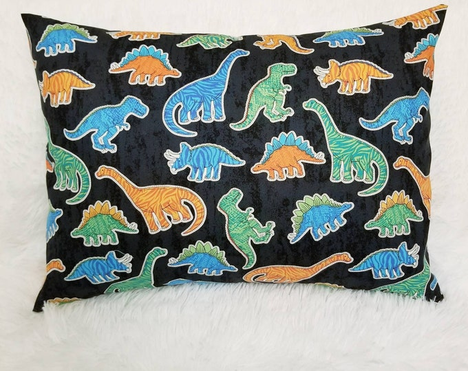 Travel Child Dinosaur Pillowcase / Toddler Dino Envelope Pillow Case
