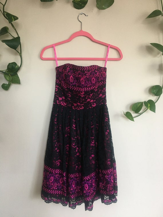 Betsey Johnson Embroidered Lace Dress - image 1