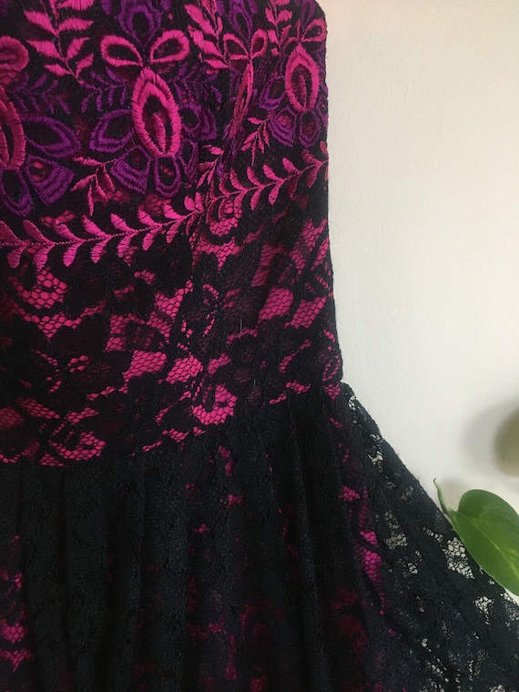 Betsey Johnson Embroidered Lace Dress - image 2