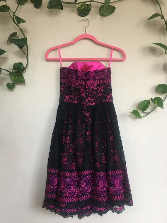 Betsey Johnson Embroidered Lace Dress - image 3