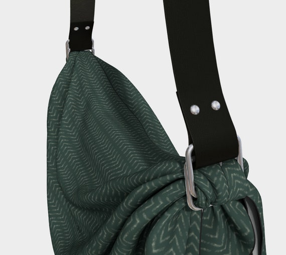 Military Green Women's Slouch Purse w/ Vegan Leather Strap - You Choose The Colour! Big Bag - Great Gift For Her