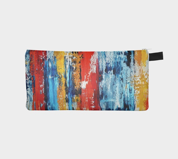 Primary Abstract Pencil Case/Zipper Pouch