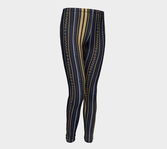 Vertical Striped Patterned Kids & Tween Leggings